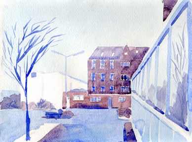 Marcellus Hall - Watercolors