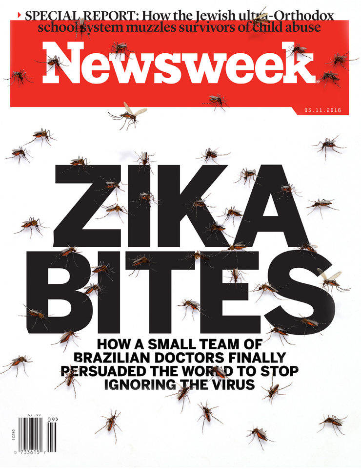 NewsWeek Cover - ZIKA BITES