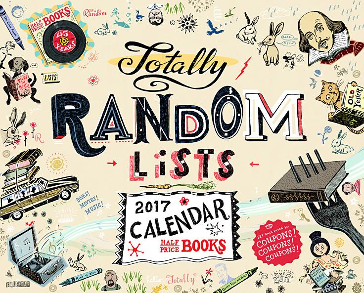 Half Price Books 2017 Calendar