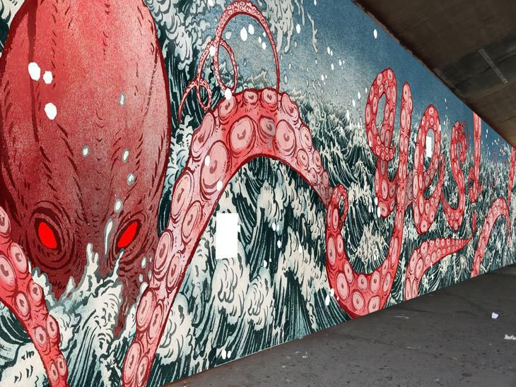 attack of the 80 foot octopus (mural)
